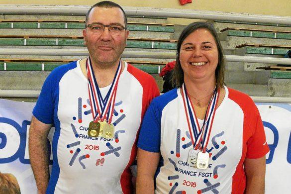 Deux chamions.. et six mÈdailles ! Katell Schier et Fred Paul portent bien l'or, l'argent et le bronze
